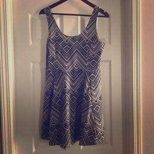 Black & White Aztec Print Dress